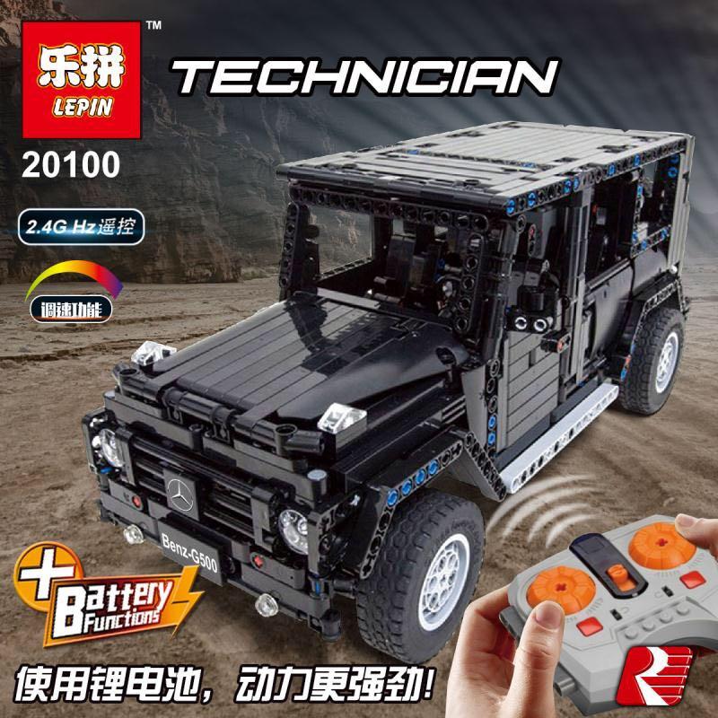 Lepin Technic 20100 Legoing MOC 2425 G500 AWD Wagon rc voiture moteurs modèle bloc de construction brique cadeaux de noël jouets éducatifs