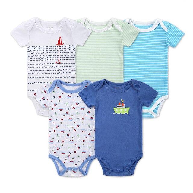 787b0759ff4f Newborn Baby Clothes Animal Print Short Sleeve Cotton Baby Boy ...