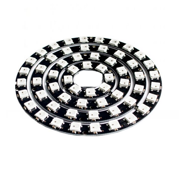 5pcs/lot Rgb Led Ring 8/12/16/24 Bit Ws2812 5050 Rgb Led With Integrated Driver Drop Shipping Active Components