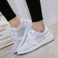 Women Casual Shoes 2017 New Arrival Women's Fashion Air Mesh Summer Shoes Female lace-up Big Size 35-40 Flat Shoes