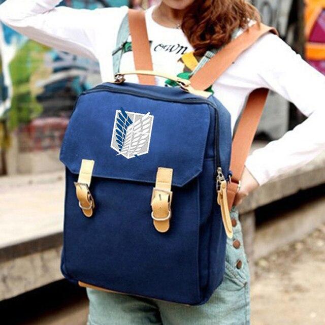 Attack On Titan Women Mochila Backpacks Student School Bag
