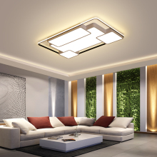купить Modern LED Ceiling Lights minimalist rectangular ceiling lamps Nordic fixtures bedroom lighting Acrylic living room illumination дешево