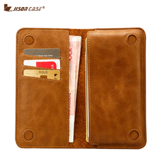 Jisoncase Genuine Leather Case for iPhone 7 4.7″ Wallet Pouch Fundas for iPhone 7 Plus 5.5″ Bag with Card Slot 2016 Fashion Case