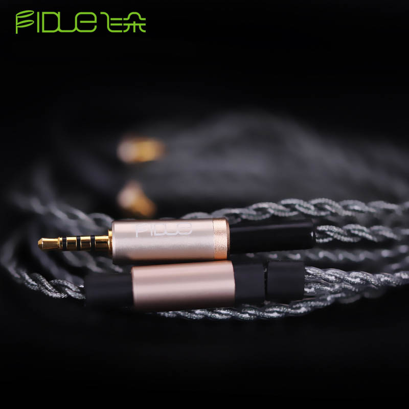FIDUE A83 2.5/3.5mm MMCX Silver-Plated Balanced Earphone Line Audiophile Interchangeble Cable Cord Earphone Accessories fidue a83 reference level 3 unit mixed ring iron earphone champagne gold