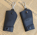 4S store special leather car key bag BMW Audi universal head layer leather car key protective shell