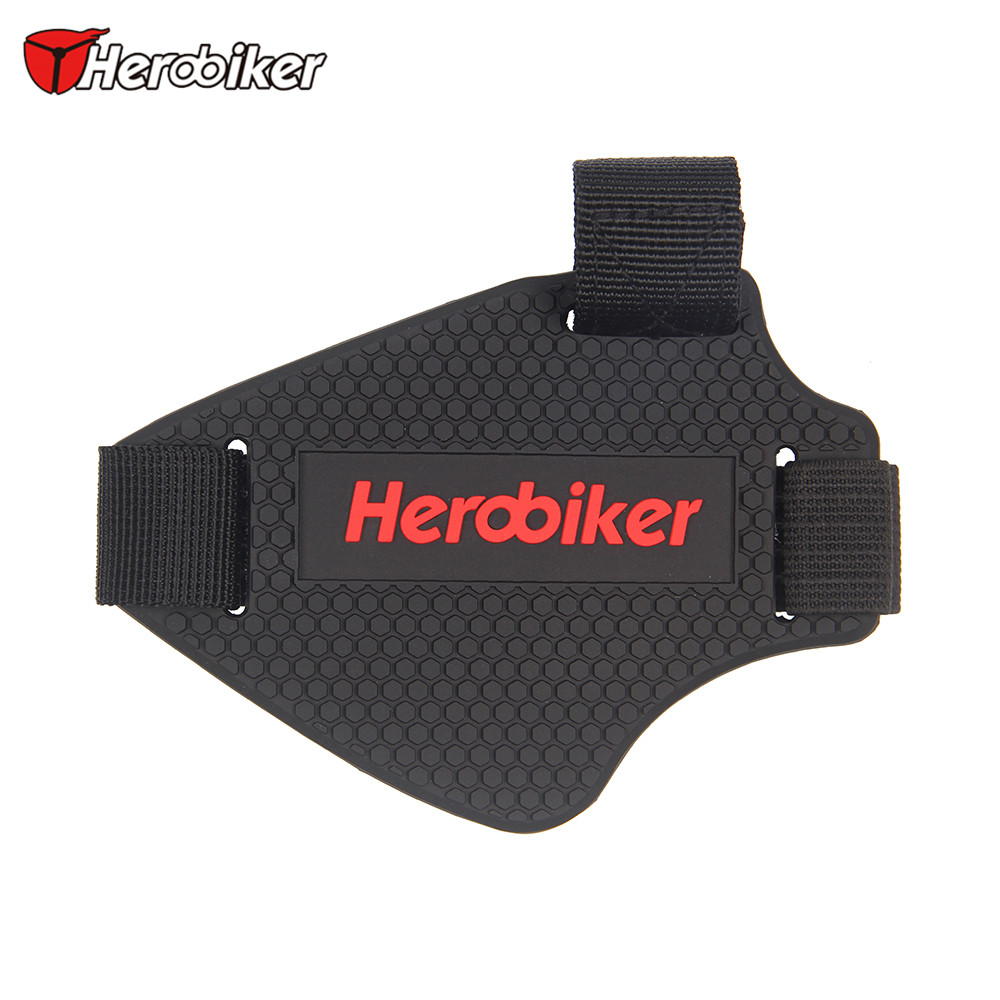 27fe4e6f0a1 HEROBIKER Moto Riding Shoes Gear Shift Pad Motorbike Racing Boots Removable Protective  Gear Guards Scuff Mark Protector Cover-in Motocycle Boots from ...