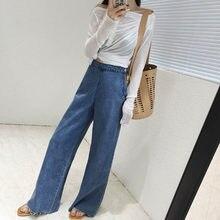 e5923bcd3b H High Waist Jeans Women Unique Wide Leg Jeans Woman Vintage Flare Jeans  Female Bell Bottom Trousers 2018 Korea Jeans S XL