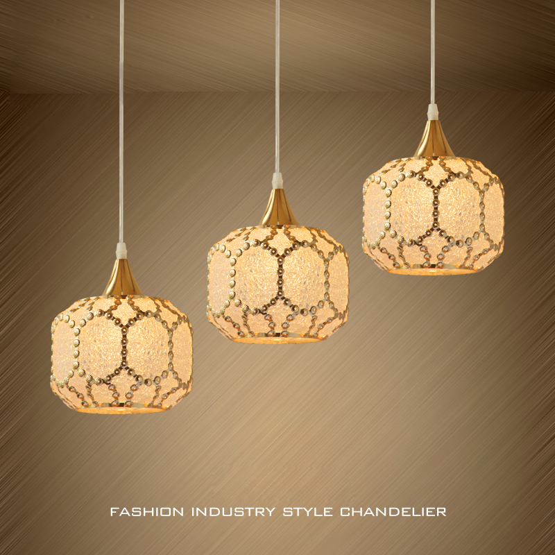 Modern Creative Metal Suspension Lamp Lighting 1/3 Lights European Art Glass Shade Aisle Dining Room Pendant Light Fixture PL683 fumat stained glass pendant lamps european style baroque lights for living room bedroom creative art shade led pendant lamp