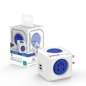 Image 4 - Allocacoc الذكية التوصيل Powercube الكهربائية USB مشترك كهرباء لأستراليا نيوزيلندا تمديد المقبس محول السفر المنزل