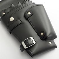 PU Leather Rivet Hair Scissor Bag Clips Bag Hairdressing Barber Scissor Holster Pouch Holder Case Black Brown