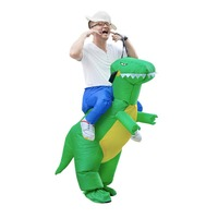 Inflatable Dinosaur Adult Costume Halloween Props Ride on Animal Fun Toy Man Women Party Dress Cosplay Body Paint for Party