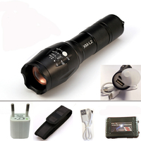 8000LM USB CREE XML L2 T6 LED Torch USB Flashlight Flash Light LED Rechargeable Lights Zoomable