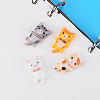 ZOCDOU 1 Piece Merry Cat Kitty Japan German Small Statue Mini Figurine Crafts Ornament Miniatures Play House Car Desk DIY Decor image