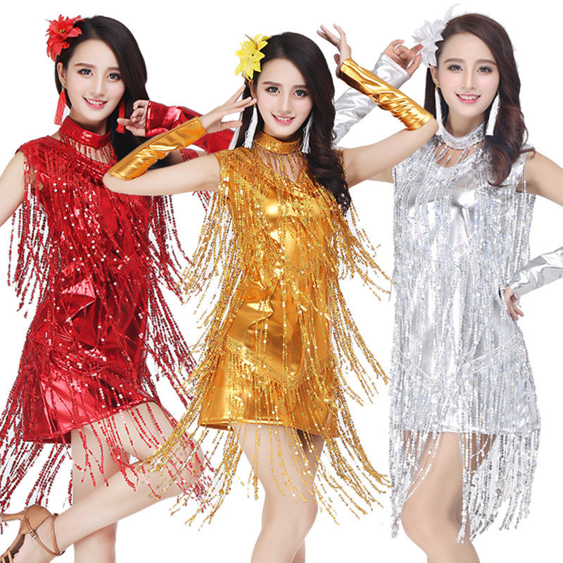 2017 Hot Sex Stage Women Lady Latin Dance Dresses More Color Tassel Costume Made Performance Party Samba Dance Costumes