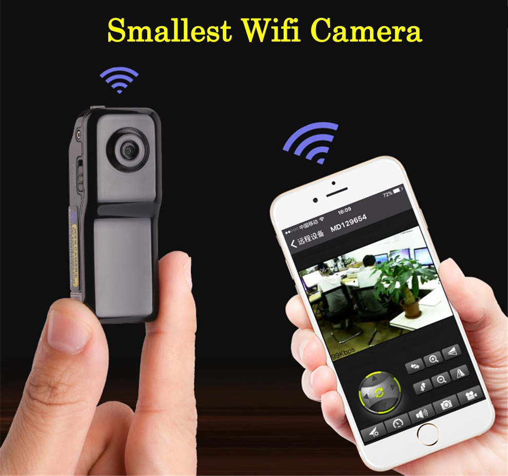 Original MD81S WiFi IP P2P Wireless Mini Camera Micro Cam Remote Control IOS Android APP Camcorder Video Espia Action Candid ...