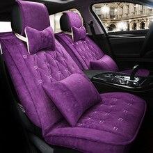 Winter Flocking Seat Covers for Mitsubishi ASX Pajero Outlander Sport RVR Lancer Ex Zinger V73 V93 Embroidery Seat Protector d19