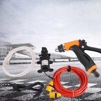 12V 65W Portable High Pressure Portable Car Wash Water Pump Sprayer Kit Car Washing Water Pump Cleaner Sprayer Kit