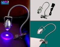 3W 365nm wavelength Ultraviolet UF Dry LED UV high power glue curing lamp green oil purple manicure light gel varnish