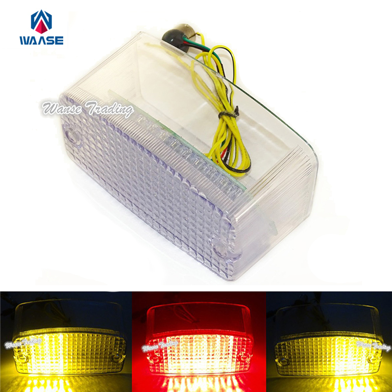 waase E-Marked Rear Tail Turn Signals Integrated Led Light Clear For 1994-200 2000 2001 2002 2003 2004 HONDA Magna 750 VF750