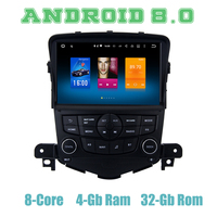 Dasaita Android 8.0 8inch car GPS navi radio player for Chevrolet cruze with Octa core px5 4G RAM wifi 4g usb auto Multimedia