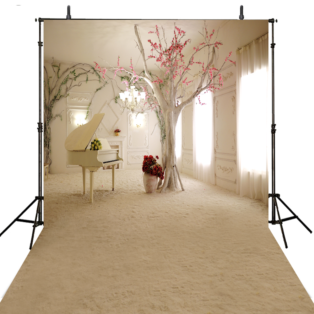 Hospitable Indoor Blue Bookshelf Table Photography Backdrops Photocall For Wedding Children Baby Vinyl Cloth Background For Photos Background