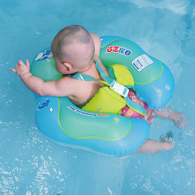 2018 New Baby Swimming Ring Infant Inflatable Armpit Floating Circle Anti-turning Ring With Inflator Plump Swim Pool Accessories