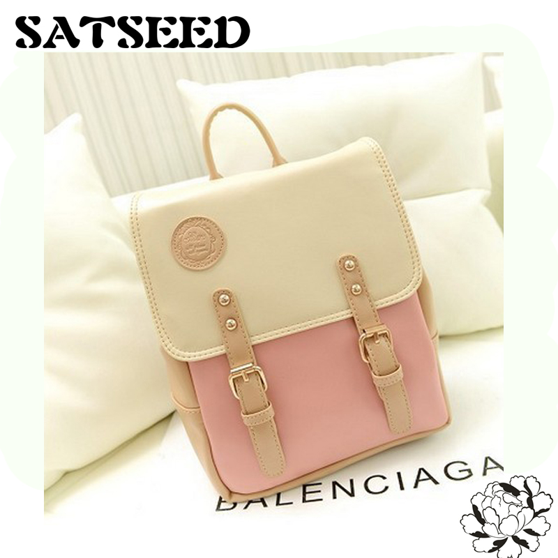 Preppy Style New Women Backpack Korean and Japanese Students Bag Backpack Bags ledai wallet girl long style thin personality the japanese and korean students snake skin original women clutch bag