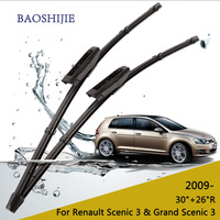 Wiper Blade For Renault Grand Scenic3 30 26 Rubber Bracketless Windscreen Wiper Blades Wiper Car Accessories
