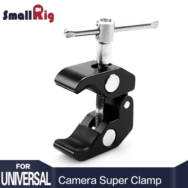 SmallRig Super Clamp w/1/4 et 3/8 Fil pour Caméras, lumières, parapluies, crochets, étagères, plaque En Verre, Barres transversales, etc-735