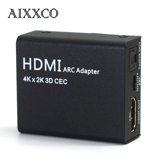AIXXCO New HDMI ARC Adapter to HDMI WITH Optical/Toslink Audio Converter 4K 1080P CEC