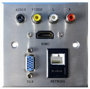 2019 high quality RCA /audio multifunctional information av socket aluminum material for hotel durable week connector 20 pcs/set