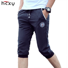 Summer Active stripe shorts males trousers leisure model males shorts elastic mens trend Workout trousers