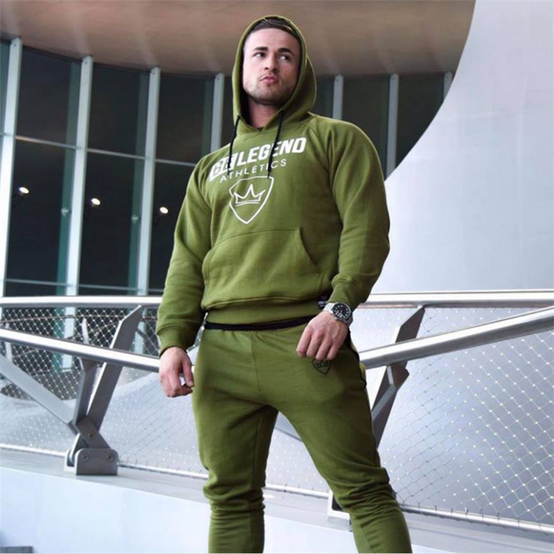 Male Sport Suit Running Men Tracksuit Fitness Body -7078