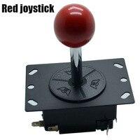 JLF TP 8YT Ball Top Arcade Joystick 4 8 Way Red MAME