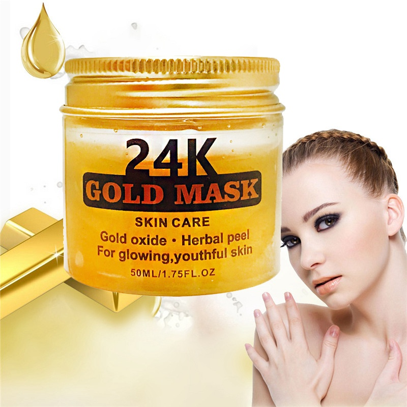 24K Gold Collagen Peel Off Mask Face Tear Off Whitening Skin Anti Wrinkle Anti Aging Facial Mask Black Head Care 50ml