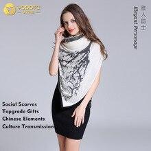 Yopota, роскошные шарфы из чистого кашемира, шаль суперразмера, новинка, теплые шарфы высокого класса, подарок высшего качества