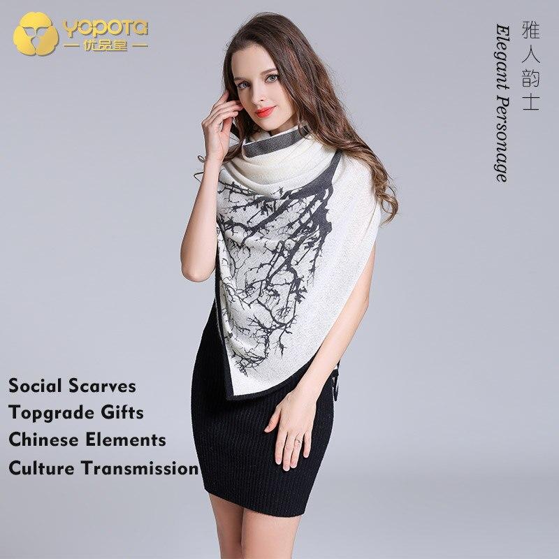 Yopota pure cachemire luxe foulards supersize châle tout nouveau garder au chaud haut de gamme foulards topgrade cadeau livraison gratuite