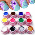 Saviland 1pcs Painting Gel Polish Draw Painting Colors UV Gel 12 Colorful Long-lasting Vernis Shiny Glitter Nail Polish