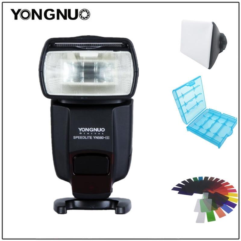 Yongnuo YN560III YN-560 III Professional Flash Speedlight Flashlight Yongnuo for Canon Nikon Pentax Olympus Camera D60 D610 D500 yongnuo yn560iii 2 4g gn58 professional flash flashlight photoflash lamp strobe light stroboscope signal lamp flicker