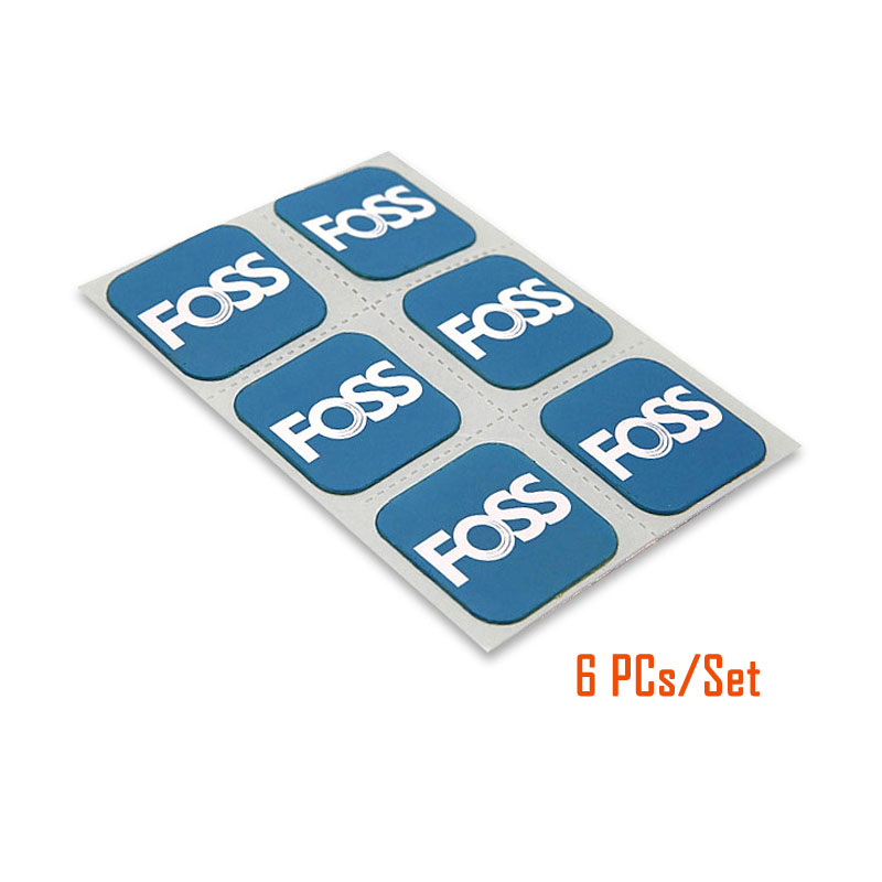 6PCs/Kit FOSS Tire Repair Patches Instant Bicycle Inner Tube No Glue Tyre Rubber Sticker Patch Tool for Mountain Road Bike(China)