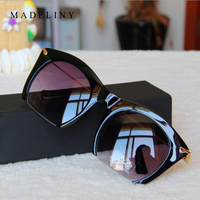 Fashion Brand Designer Cat Eye Sunglasses Women Half Rim Sun Glasses Half Frame Women Shades UV400 MA202
