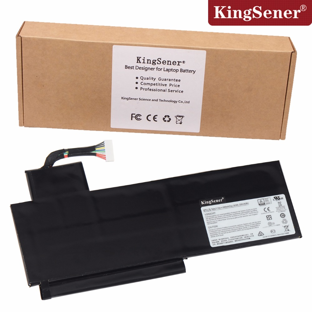 KingSener New BTY-L76 Laptop Battery For MSI Erazer X7613 MD98802 MS-1771 XMG C703 GS70 GS72 GS60 BTY-L76 11.1V 5400mAh laptop keyboard for msi ms 16f1 cx660 cx660r ms 16f2 gx680 gx680r ms 1671 gt780r gx780 gx780r black with frame sw swiss