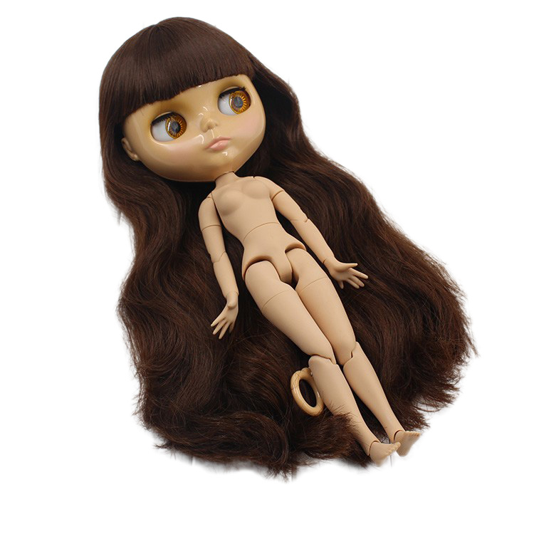Free shipping Nude Blyth Doll Serires No J280BL0312 For Brown hair with bangs JOINT body with