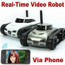 Радиоуправляемый Танк IPhone iOS Wi-Fi Rc i-Spy Танк с камерой видео функции Серый Белый WiFi iPhone пульт дистанционного управления RC автомобиль игрушки FSWB