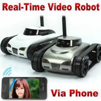 Rc tank IPhone iOS WiFi RC i Spy Tank with Camera Live Video Functions Gray white wifi iPhone Remote Control RC Car Toys FSWB