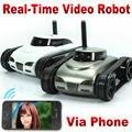 Tanque rc iphone ios wi-fi rc i-tanque espião com câmera ao vivo funções de vídeo cinza branco wi-fi iphone carro de controle remoto rc toys FSWB