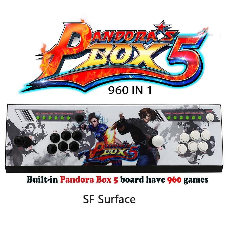 Pandora's box 5 960 in 1 game arcade console usb joystick arcade buttons with light 2 players control machine pandora box 5 HD