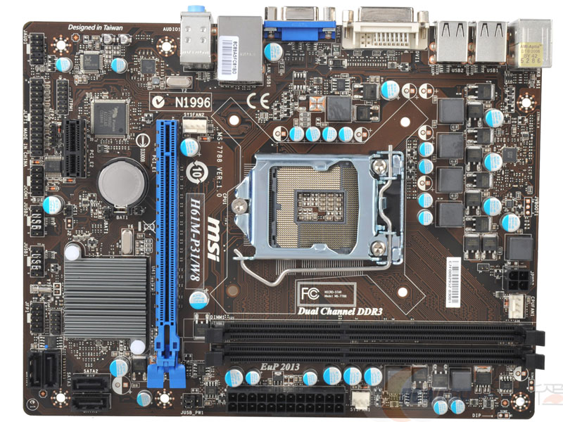 H61M-P31/W8 DDR3 H61 1155 pin motherboard