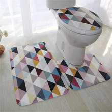 3 Piece / Set Toilet Set Non Slip Bathroom Mat Suede Anti-slip Toilet Cover Bath Sets Decor Safety Tape Mat Bathroom Set Carpet(China)