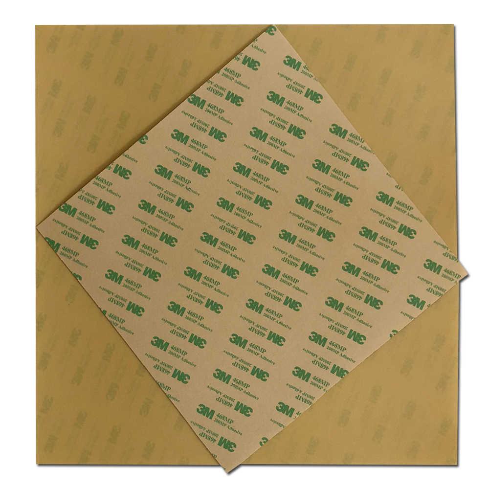 """ENERGETIC 1 pcs PEI แผ่น 6.5 """"x 6.5"""" (165x165 มม.) 0.125 มม. หนา 3D เครื่องพิมพ์สร้างพื้นผิวสำหรับ Ender-2 3D เครื่องพิมพ์เตียงร้อน"""